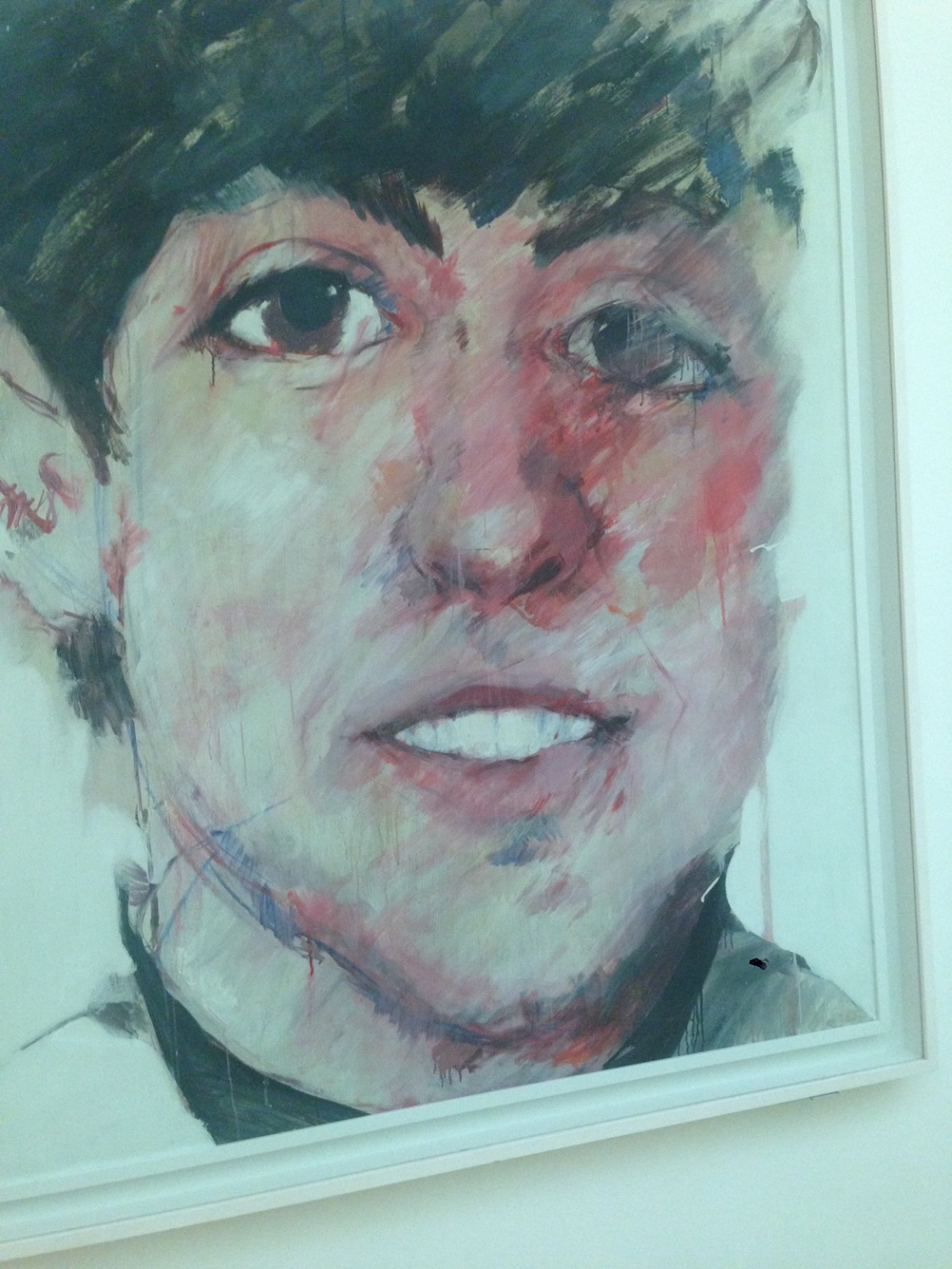 Paul McCartney Painting at the National Portrait Gallery in London