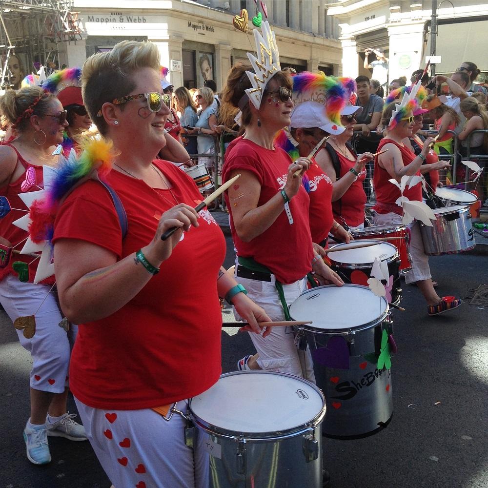Pride in London 2017, drummers